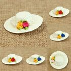 1 Pc Lady Women Mini Top Hat with 2 Flowers Faux Pearl Hairpin Clip Party Decor