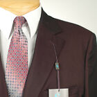 42R STEVE HARVEY Solid Burgundy SUIT SEPARATE  42 Regular Mens Suits - SS27