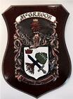 Denton to Dinneen Family Handpainted Coat of Arms Crest PLAQUE Shield