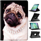 Pug Dogs China Asian Love Folio Cover Leather Case For Samsung Galaxy Tablet