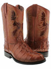mens cognac brown alligator tail crocodile roper boots rodeo western leather new