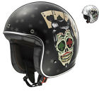 LS2 OF583.30 Bobber Tattoo Open Face Motorcycle Helmet Jet Scooter Fiberglass