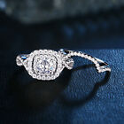Wedding Engagement Ring Set For Women 925 Sterling Silver 1.8ct Round Cz Sz 5-12