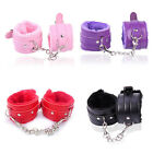 Fetish Handcuffs Leather Sex Slave Hand Ring Ankle Cuff Restraint Toy S