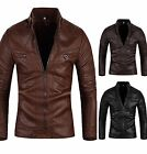 2016 New Mens Premium Casual Design Line  Faxu Leather Jacket  KL104