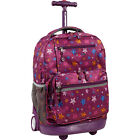 J World New York Sunset Rolling Backpack 9 Colors Wheeled Backpack NEW
