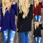 Sexy Women Lace Long Sleeve Tee Tops Blouse Open Front Hoodie T Shirt New