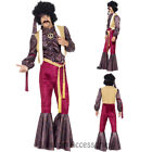 CL729 70's Psychedelic Rocker Hippie Disco Jimi Jimmy Hendrix Fancy Mens Costume