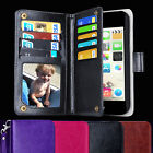 Heavy Duty PU Leather Wallet Case Magnet Cover Skin For iPhone5 5S Card slots