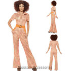CL744 70s Authentic Chic Jumpsuit Hippie Tragic Disco Retro Fancy Dress Costume