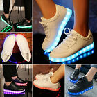 New Unisex USB LED Light Lace Up Luminous Shoes Sportswear Sneaker Casual Shoes