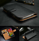 Genuine Real Leather Flip Wallet Case Cover For Xiaomi Mi3 4 Hongmi Note
