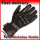 Richa Nasa Black Leather and Textile Waterproof Breathable Gloves