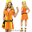 CL783 Highway Hottie Sexy Patrol Traffic Construction Halloween Dress Costume