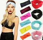 Women's Cotton Turban Twist Head Knot Headband Wrap Twisted Knotted Hair Band HQ