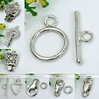 925 Sterling Silver Toggle Lobster Clasp Bolt Hook Rings Jewelry Findings Charm