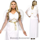CL790 White Angel Heaven Fairy Christmas Outfit Fancy Dress Up Womens Costume