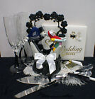 Nightmare before Christmas LOT Wedding Cake Topper Glasses Server Book Halloween