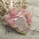 Shabby Chic Mum, Nanna, Grandma Mother's Day Birthday Wooden Heart Plaque