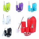 6Pcs Bathroom Accessory Set Bin Soap Dish Dispenser Tumbler Toothbrush Holder Bl