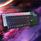 7 Colors Crack Illuminated LED Backlight USB Wired Multimedia PC Gaming Keyboard