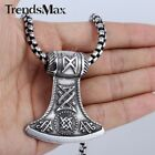 Mens Chains Silver Tone Thor's Hammer Stainless Steel PENDANT NECKLACE HUGE 22''