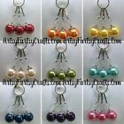 Pearl Handmade Wire Wrapped Beaded Zipper Pull Charms ~ Jacket Purse Backpack