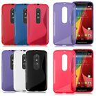 For Moto G 3rd Gen G3 Slim S-Line Wave Leap Soft TPU Rubber Cover Case Protector