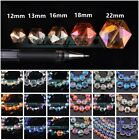 Hexagon Faceted Crystal Glass Charms Loose Beads Lot 12mm 13mm 16mm 18mm 22mm