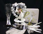 Fireman Fire Fightert Officer Wedding Cake Topper Glasses server Knife Book LOT