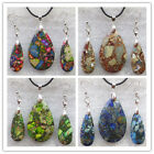 Wonderful Mixed Stone Teardrop Earrings & Necklace Set LX173(Randomly send )