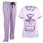 J132 LADIES 100% COTTON PYJAMA PJ NIGHT WEAR SLEEP WEAR COSY COUTURE CELEB SET
