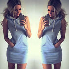 Womens Boho Sleeveless Party Evening Cocktail Lady Pullover Mini Dress Clubwear