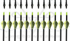 """Longbowmaker Archery Hunting 32""""Yellow Vanes Carbon Arrow SP 500 for Practicing"""