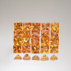2.8mm Lot 1,5,10pcs Square Princess Cut Natural Gemstone Yellow Orange SAPPHIRE