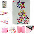 Purple Flower Yellow Magnetic Flip PU Leather Book Stand Case Cover For Tablets
