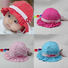 Baby Girl Cute Polka Dot Sun Hat Cotton Summer/Spring/Fall Cap For 6-36 Months Y