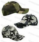 Mens Camouflage Camo Army Print Baseball Cap Adults Fishing Sun Peak Cotton Hat