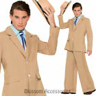 CL822 Mens Gold Coast Gentleman 20s Gangster Gatsby Suit Fancy Dress Up Costume