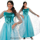 CL832 Princess Krystal Frozen Snow Queen Elsa Costume Cosplay Gown Fancy Dress