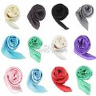 Woman Ladies Square Scarf Silk Neckerchief Headband Head Neck Scarves 90cm*90cm