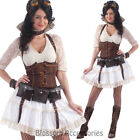 CL833 Steampunk Sally Victorian Fancy Dress Halloween Gothic Historical Costume