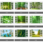 3d Window Forest Bamboo Birch Tree View Wall Stickers, Wall Mural, Wall Decals