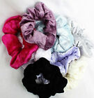 PARTY MULTI COLOURS VELVET FEEL FABRIC HANDMADE LARGE WRAP SCRUNCHIE ELASTIC