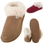 Lambland Womens / Ladies Genuine Suede Sheepskin Slippers with Light Weight Sole