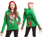 CUPCAKE CULT POISON IVY GREEN RED ZIP CORSET GOTHIC SUICIDE SQUAD HOODIE 10-18
