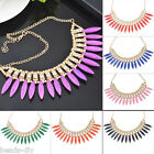 BD New Women Crystal Pendant Chain Choker Chunky Statement Bib Necklace