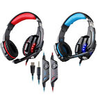 KOTION EACH Gaming Stereo Headset 3.5mm + USB LED Headphone for Laptops PC Games