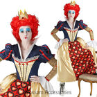 CL858 Licensed Red Queen Of Hearts Costume Dress Wig Crown Alice In Wonderland