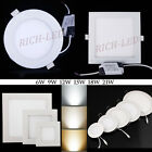 6W 9W 12W 15W 18W 21W Dimmable CREE LED Recessed Ceiling Panel Down Lights Lamp